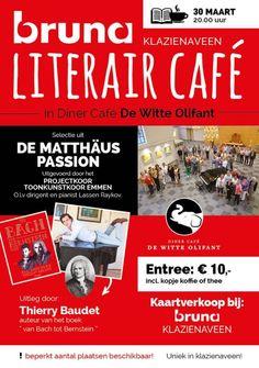 Vanavond Bruna Literair Café met De Matthäus Passion