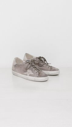 Golden Goose Sneakers Superstar in Grey Lizard Star | The Dreslyn