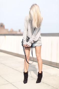 figtny.com | outfit • 65 ALTERNATIVE APPAREL ECO-JASPE CREW SWEATSHIRT HEATHER GREY