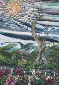 """Tree"" Oil on canvas http://melissaburgher.com/"