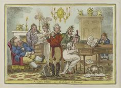 1810:A little music-or-the delights of harmony by James Gillray.