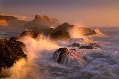 Ocean's Fury by Marc Adamus, Oregon Coast