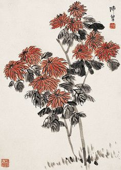 Chinese Contemporary Artist Chen Shizeng and his Painting Gallery. Japan Painting, Ink Painting, Chinese Painting, Chinese Art, Painting Gallery, Art Gallery, Chrysanthemum Chinese, Lotus, Edgar Degas
