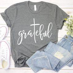 T Shirts With Sayings, Cute Shirts, Shirts For Girls, Cute Tshirt Sayings, Bella Shirts, Christian Clothing, Christian Shirts, Christian Women, Cute Shirt Designs