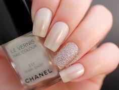 perłowe paznokcie ślubne, vaganza, ślubny manicure 2
