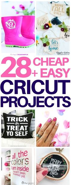 OMG! This is exactly what I needed - an awesome list of tons of Cricut projects for beginners that are cheap & easy to make! I got so much inspiration and this site has tons of free svgs to use to try them out! #cricut #diy #cricutmade