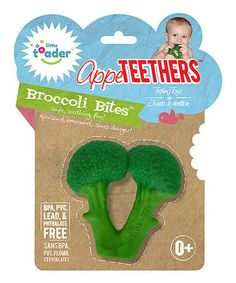 Look at this #zulilyfind! Broccoli Bites Teething Toy by AppeTEETHERS #zulilyfinds