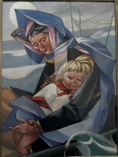 Madonna - Zofia Stryjeńsk Mother Mary, Sacred Art, Mothers Love, Madonna, Poland, Catholic, Folk, Child, Illustrations
