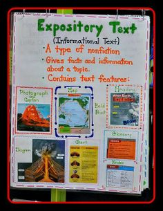 Teaching Fourth: Expository Nonfiction Anchor Chart.  Use a nonfiction book to create a chart!