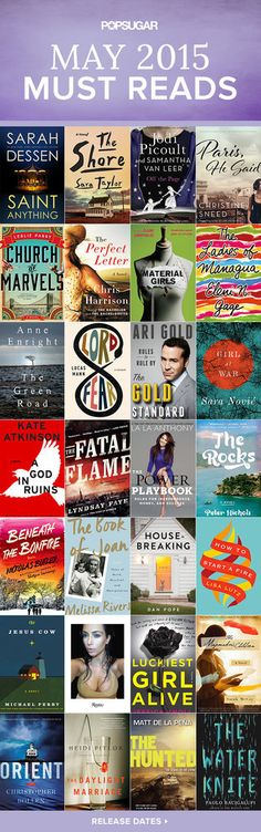 Check out all the best books with May 2015 release dates, including a mix of celebrity memoirs, novels, mysteries, and more!
