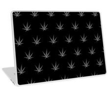 Laptop Skin - This pot leaf pattern, marijuana design is clean looking and understated, but still lets your appreciation for cannabis show. This design is also available with a white background.