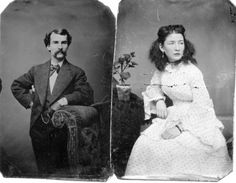 """Robert Emmett Clarke and ?? maybe wife Lillian or possbly a sister ..""""let me xplain not my Grand ma. i dont know any of these folks it's just my simple act of geanealogy kindness  to put up named folks hopeing mabey you will find your family photos..good luck"""""""