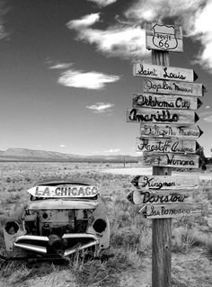 Old Route 66 near Truxton, Arizona