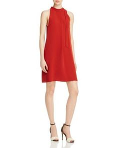 Theory Espere Admiral Crepe Dress In Red Oak Pretty Dresses, Dresses For Work, Summer Dresses, Crepe Fabric, Embellished Dress, Colorblock Dress, Crepe Dress, Retro Dress, Dress Skirt