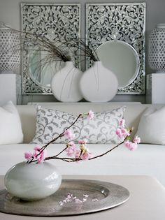deco in white living room Deco Spa, Deco Pastel, Home Decoracion, Asian Home Decor, Interior Decorating, Interior Design, Deco Design, Home Decor Inspiration, Home And Living