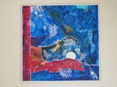 MadeByBodil: Og i begynnelsen var. Night, Artwork, Painting, Work Of Art, Painting Art, Paintings, Painted Canvas