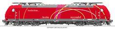 #railcolor #locomotive #graphics www.railcolor.net #DB #Bombardierrail #Traxx #railways