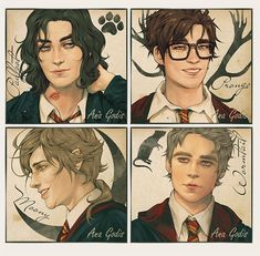 Harry Potter Drawings, Harry Potter Fan Art, Harry Potter Universal, Harry Potter Fandom, Harry Potter World, Harry Potter Memes, Harry Potter Marauders, The Marauders, All The Young Dudes