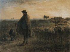 Jean-François Millet (prononcer [mi'le], Mi-lé), (4 octobre 1814 - 20 janvier 1875) est un artiste-peintre réaliste, pastelliste, graveur et dessinateur français du XIXe siècle, l'un des fondateurs de l'école de Barbizon. Il est particulièrement célèbre pour ses scènes champêtres et de la paysannerie réalistes.  Il fut influencé par Courbet.