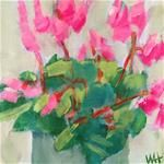 """Daily Painting """"Cyclamen"""" (series) Another, looser version of the cyclamen I posted yesterday. Daily Painters, Flower Paintings, Flowers, Artist, Artwork, Color, Paintings Of Flowers, Work Of Art, Auguste Rodin Artwork"""