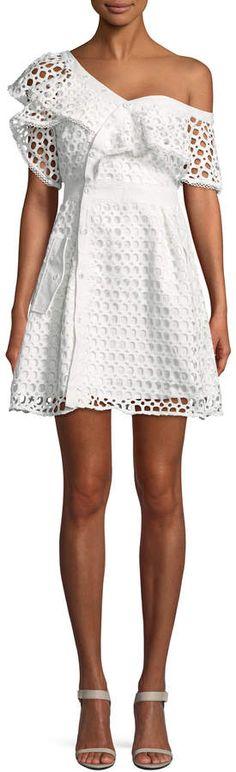 HAUTE ROGUE Women's Ruffle Off Shoulder Dress