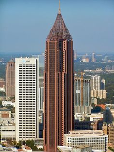 The Bank of America Plaza - used to work in this building. At 1,040 feet, the tower is the 60th-tallest building in the world and the tallest building in Georgia.
