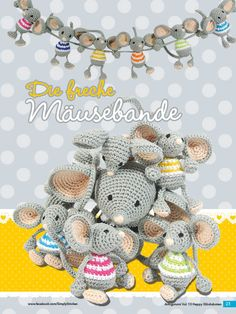 Häkelnaleitung Maus mini Ballons Fantastische Häkelideen Amigurumi vol13