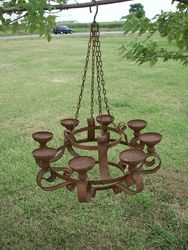 Outdoor chandelier for my pergola for the home pinterest 32 wrought iron grand candle chandelier wrought aloadofball Gallery