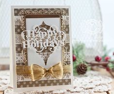 Christmas Card Making Ideas by Becca Feeken using Washi Tape and Spellbinders Heirloom Reflections - www.amazingpapergrace.com