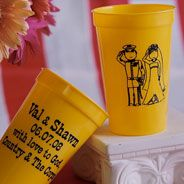 Custom stadium cup wedding favors! CUP22/MF. As low as $0.49 each. Call for available colors. #wedding #stadiumcup #partyfavors