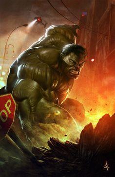 Hulk smash! L'invincible Hulk, une force brute d'une puissance telle qu'il vécut alors que l'humanité entière avait péri. Triste sort d'un scientifique devenu un monstre vert dont l'impulsivité lui a valu d'être pourchassé pendant une bonne partie de sa vie. C'est incroyable de voir Hulk avec une chevelure blanche et sa peau verte ridée. Il est triste et verse même quelques larmes sur une planète dévastée telle un désert.