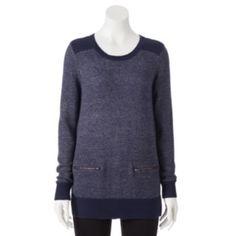 Croft & Barrow Marled Sweater Tunic - Women's