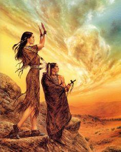 Art Fantastix Luis Royo paintings of native indians Native American Pictures, Native American Artwork, Native American Quotes, Native American Beauty, American Indian Art, American Symbols, American Artists, American Indians, Native Indian