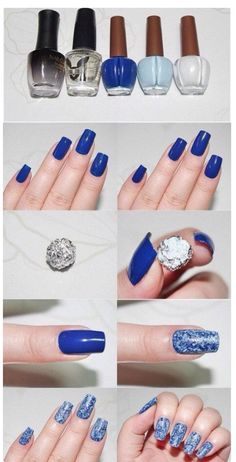 Love this nail design and good idea~