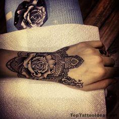 Amazingly Realistic Black Ros E Ink Tattoo Idea