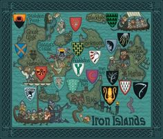 J.E. Fullerton's Massively Detailed Game Of Thrones Map Of Westeros: The Iron Islands