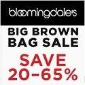 Bloomingdale's Big Brown Sale.  Save 20-65%