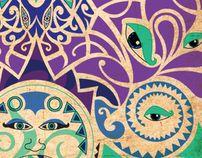 Maori inspired art by Jilly Cooper, via Behance