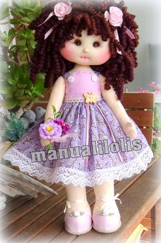 Sewing Dolls, Fabric Dolls, Doll Clothes, Flower Girl Dresses, Homemade, Costumes, Toys, Wedding Dresses, Ideas