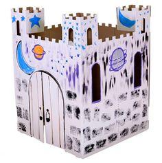 Custom cardboard play castle.