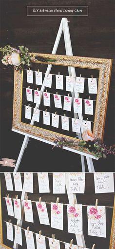 DIY Bohemian Floral Seating Chart