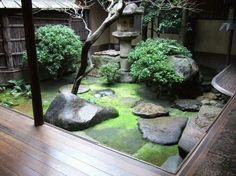 Small Courtyard Garden Design Inspiraions 43 image is part of Inspiring Small Courtyard Garden Design for Your House gallery, you can read and see another amazing image Inspiring Small Courtyard Garden Design for Your House on website Small Courtyard Gardens, Small Courtyards, Small Gardens, Outdoor Gardens, Zen Gardens, Courtyard Design, Indoor Garden, Small Japanese Garden, Japanese Garden Design