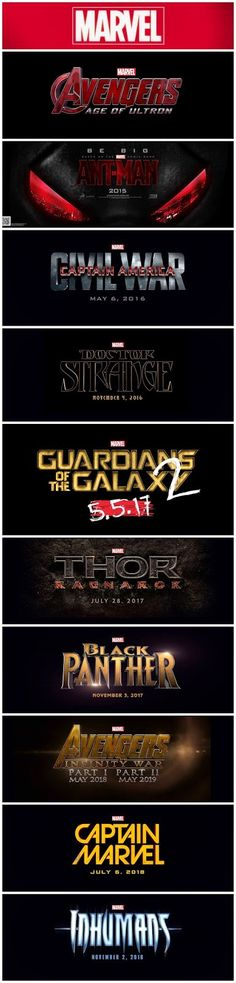 Epic Marvel Studios Announcement: Phase 3 of Marvel Cinematic Universe ~ Learn the Title and Date of EVERY Marvel Studios Movie between now and May 2019!!!! #MARVEL