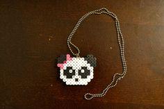 Panda Necklace Pixel Bead Art Jewelry by PixelNerds on Etsy, $8.99