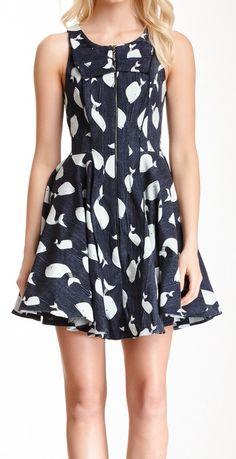 Whale print dress