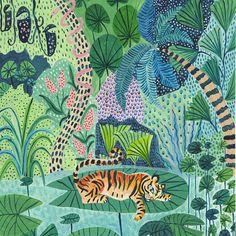Impresión del tigre tigre ilustración ilustración de selva