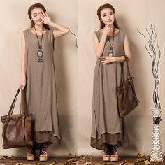 Summer-2015-Women-New-False-Two-pieces-Dress-Cotton-Linen-Sleeveless-Long-Dress-Vest-Retro-Designer (2)Р° (375x375, 139Kb)