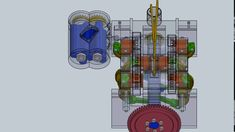 Opposed Piston Engine Design - Commer TS3 - Solidworks Engineering, Fictional Characters, Design, Fantasy Characters, Technology