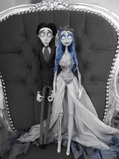 Emily and victor from Tim burtons corpse bride