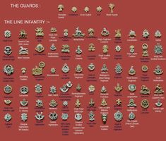 British-Infantry-badges.jpg (800×681)
